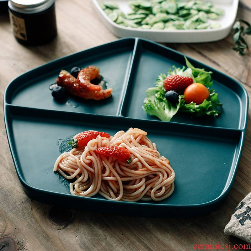 Nordic ins breakfast tray means western creative one, the food web celebrity plate creative snacks steak China plate