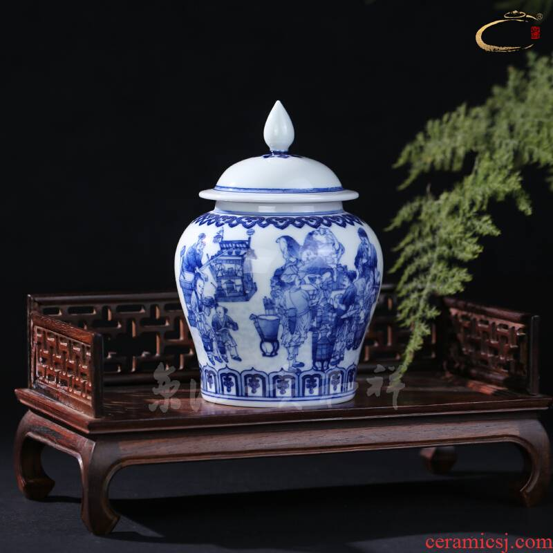 And auspicious jingdezhen porcelain store receives the general household business gifts ceramic landscape character in a tea pot