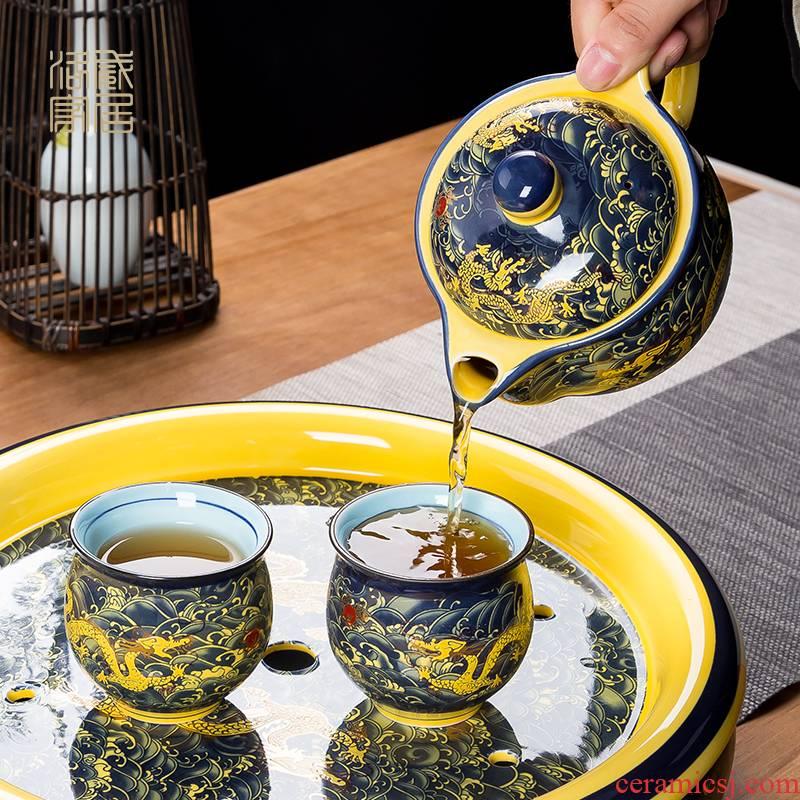 The ceramic teapot double anti hot filter single pot of household drinking water bottle jingdezhen kung fu tea teapot