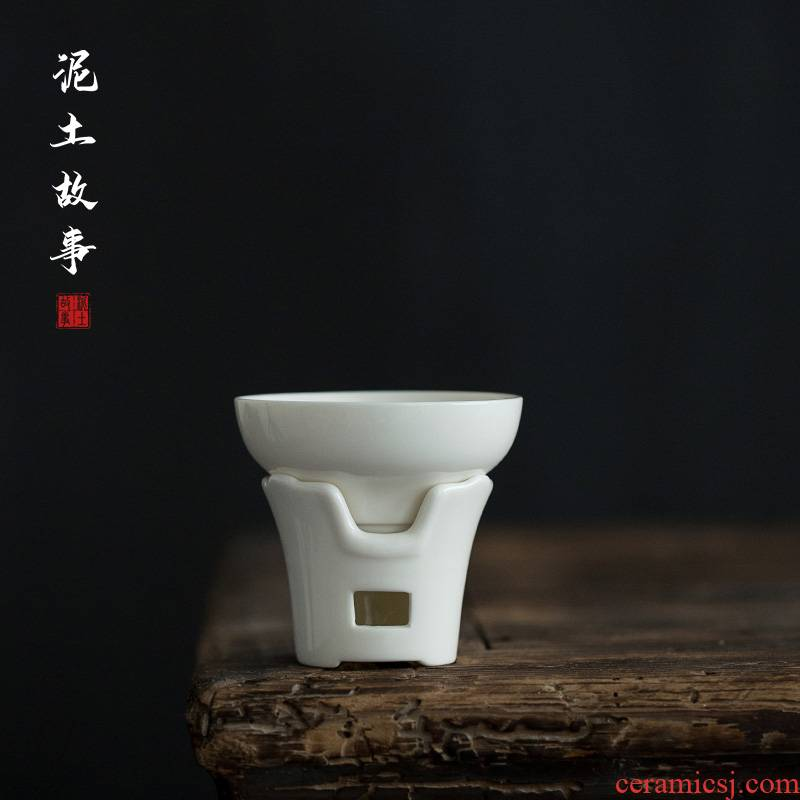 Dehua white porcelain in lard) tea filters filter ceramic tea set with parts fair keller coal stove)