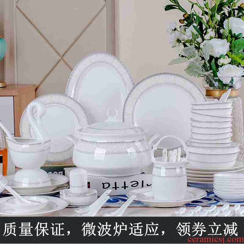 10 gift ipads China tableware ceramics always suit household combination dishes dishes of eating the food bowl