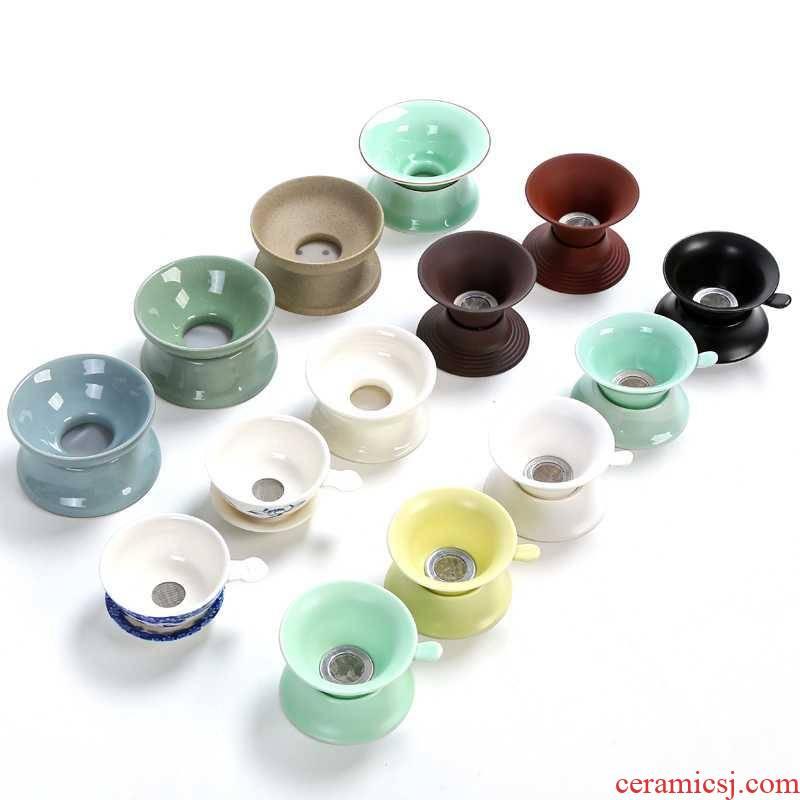 Ceramic) celadon tea strainer specials kung fu tea set with parts make tea filters filter good tea tea