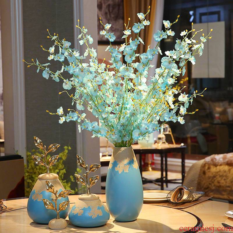 The New Chinese vase furnishing articles example room living room flower arranging ceramic Europe type TV ark, porch home decoration