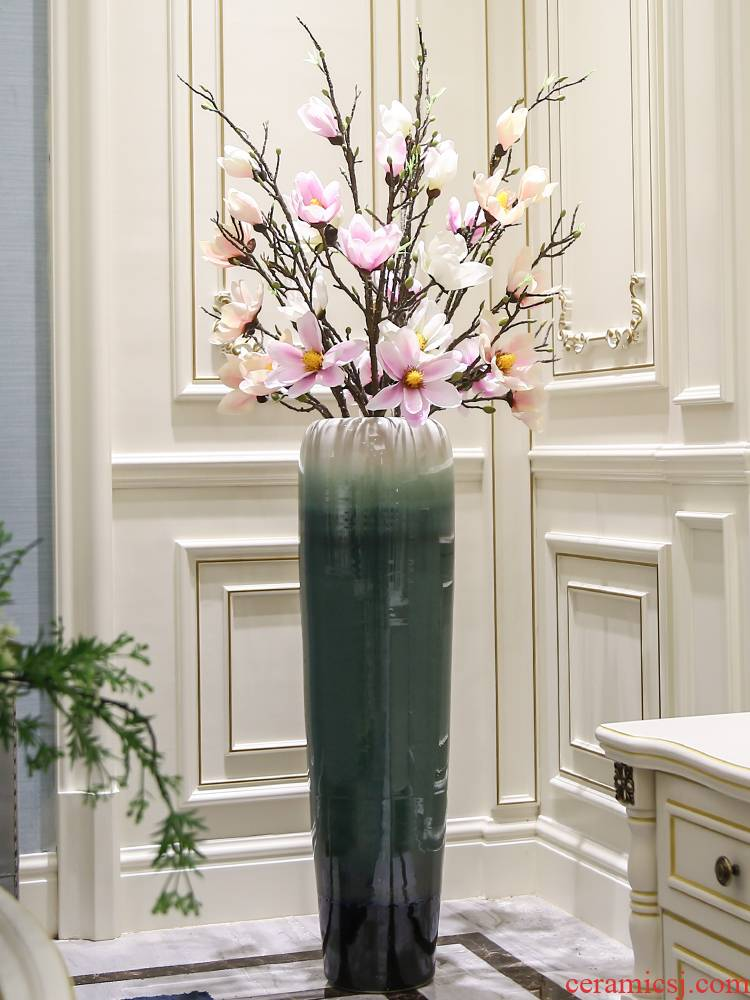 New Chinese style high model of jingdezhen ceramic large vase furnishing articles dried flowers ground flower art household decoration