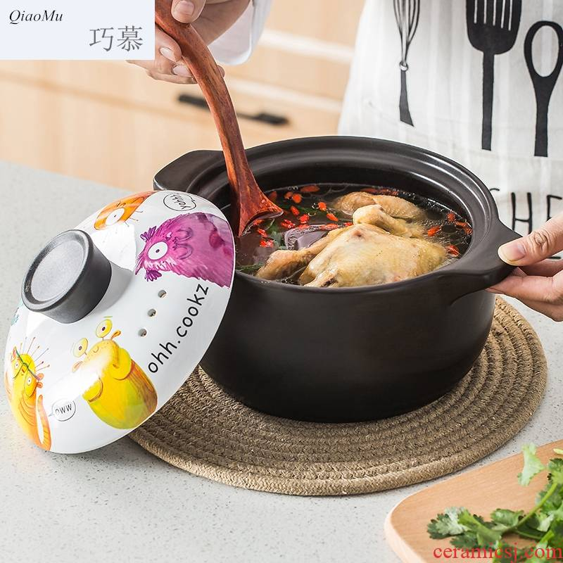 Qiam qiao mu Japanese high - temperature curing soup pot ceramic casseroles, porridge and small casserole household flame gas soup pot