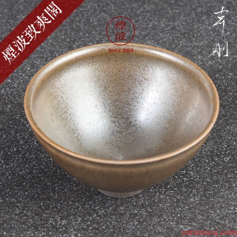 Those Japanese persimmon temmoku glaze ceramic art master the expedition just songstress change built sample tea cup tea cup