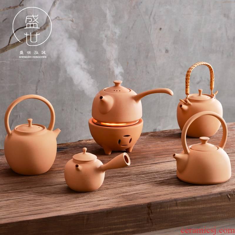 Hydropower TaoLu boiled tea ware tea machine manual girder thick clay POTS, the Japanese side of kung fu tea pot of alcohol