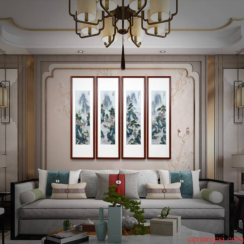 Jingdezhen famous hand - made ceramic plate drawing of new Chinese style household adornment porcelain sitting room handicraft furnishing articles study