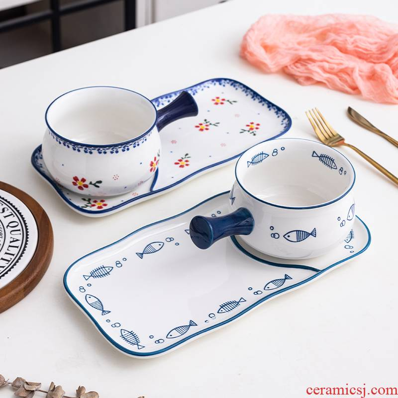 Japanese ceramics tableware for breakfast home dishes one lovely food suits for cereal take dishes children 's creativity