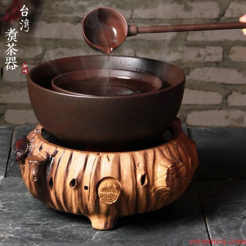 Large ceramic boiling tea machine electricity TaoLu suit tea stove cooked this teapot teacup tea dry black tea mercifully bowl
