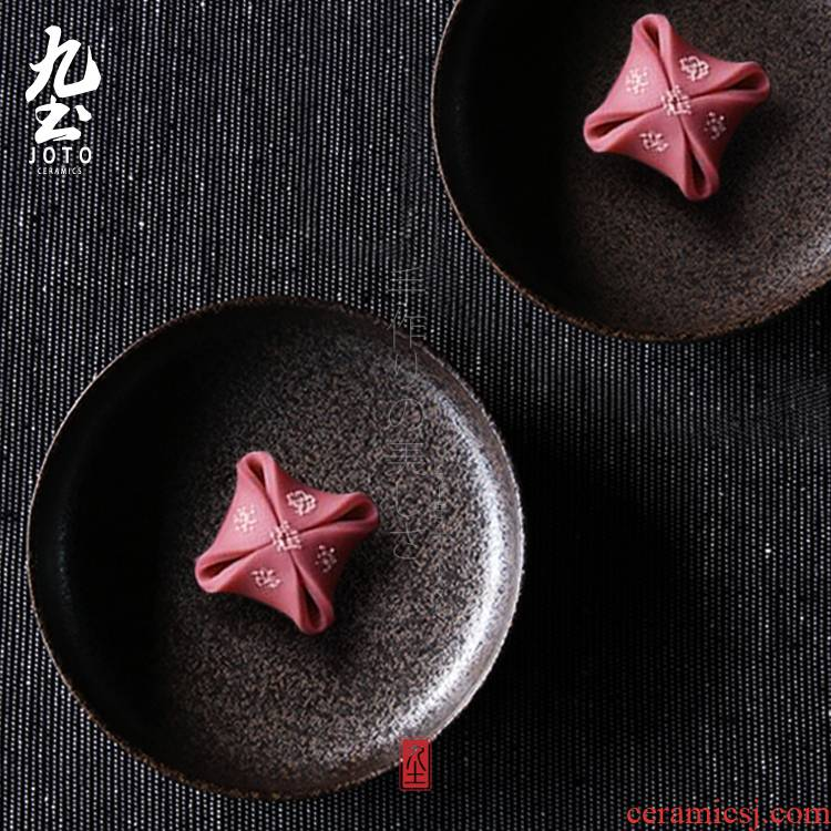 About Nine soil manual Japanese ceramics tableware plate dish retro ceramic candy dry fruit tray was cakes tea small dishes