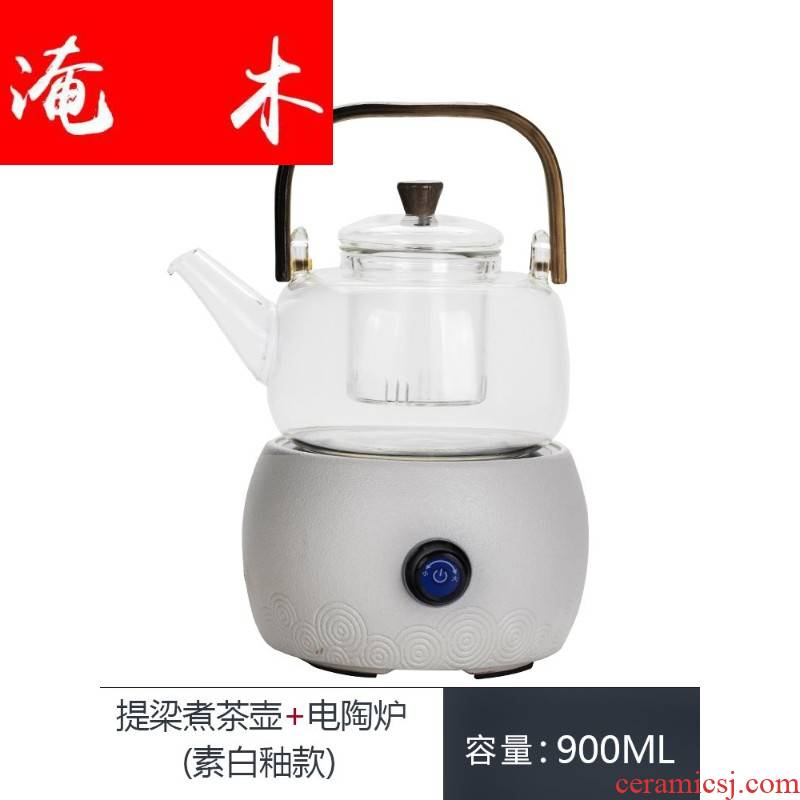 Submerged wood tea - house, black pottery cooking ware ceramic electric TaoLu heat - resistant glass tea kettle cooking household utensils sets of the teapot