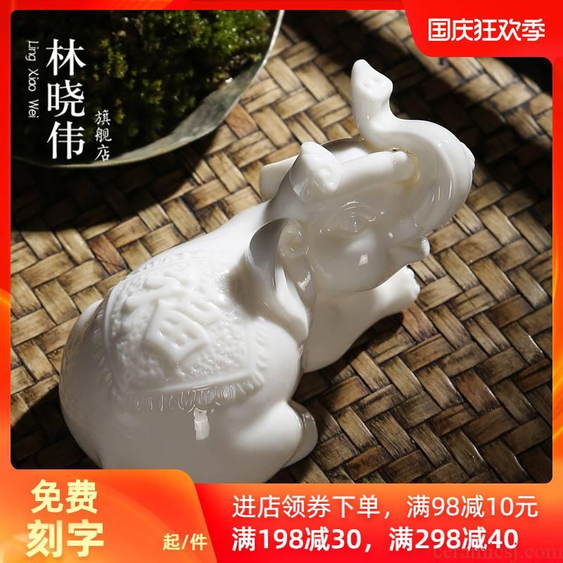 Pet dehua white porcelain tea to keep fine ceramic tea art furnishing articles individuality creative play kung fu tea tea tea accessories