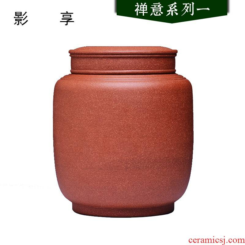 Shadow enjoy violet arenaceous caddy fixings large pu 'er tea to wake POTS sealed storage tank packing box pure checking quality JH