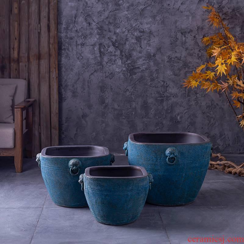 The large water restoring ancient ways of jingdezhen ceramics porcelain jar basin bowl lotus lotus cylinder cylinder turtle pond lily cylinder flowerpot
