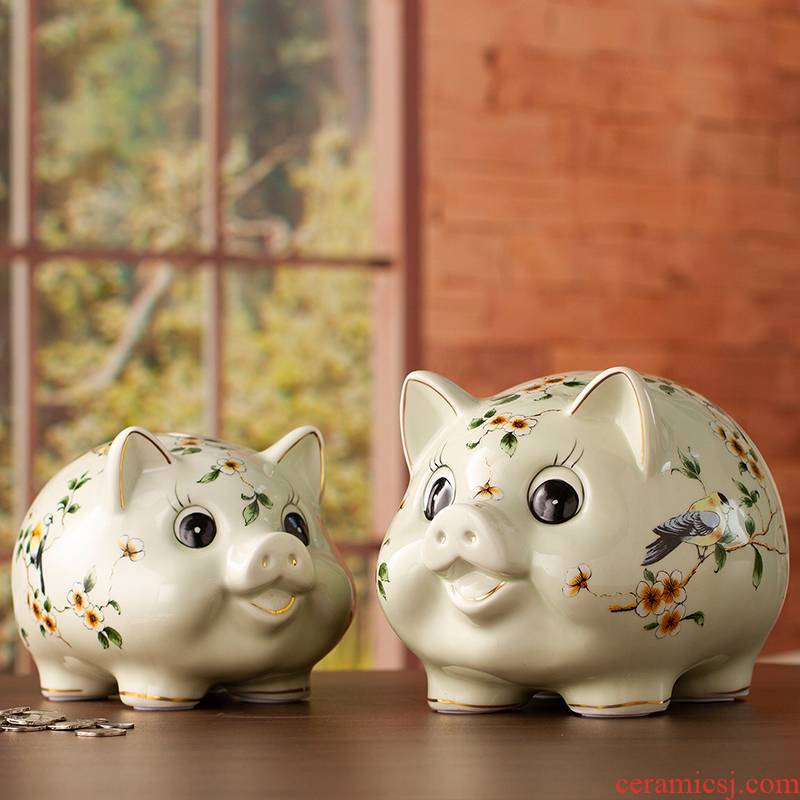 Furnishing articles household act the role ofing is tasted ceramic, lovely pig can save wedding present I and contracted household adornment Furnishing articles