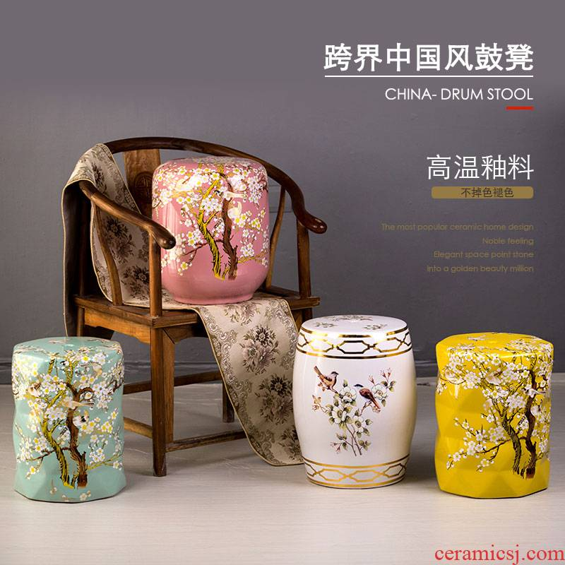 Ceramic drum who American country of new Chinese style change shoe drum who and who the pier dresser furnishing articles sitting room adornment