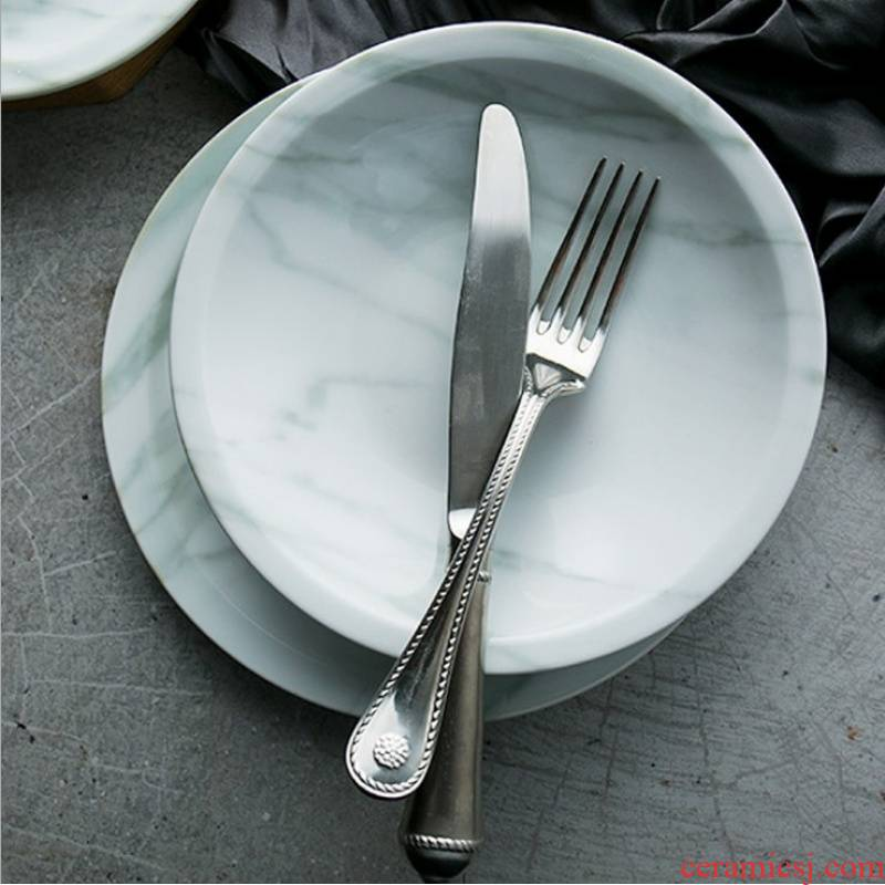 Marble plate aizen series platter European new ipads China plates steak dish soup dish dish fruit snack plate