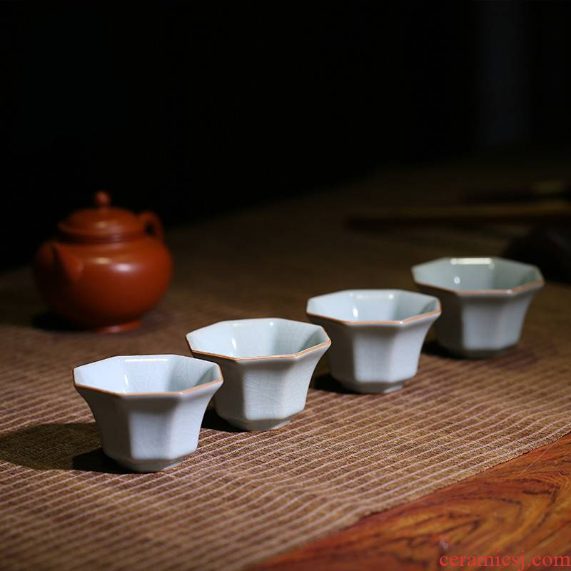 . Poly real boutique scene. Your up jingdezhen kung fu tea cups master S cup single cup sample tea cup of black tea cup