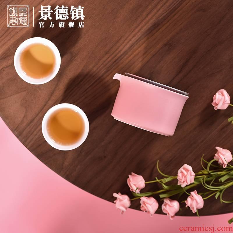Jingdezhen ceramic ear willow work travel tea set home office business is suing tea sets tea gift boxes