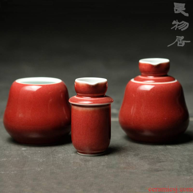 Offered home - cooked color glaze transparent glaze temperature wine pot in jingdezhen manual hot Chinese archaize ceramic wine wine