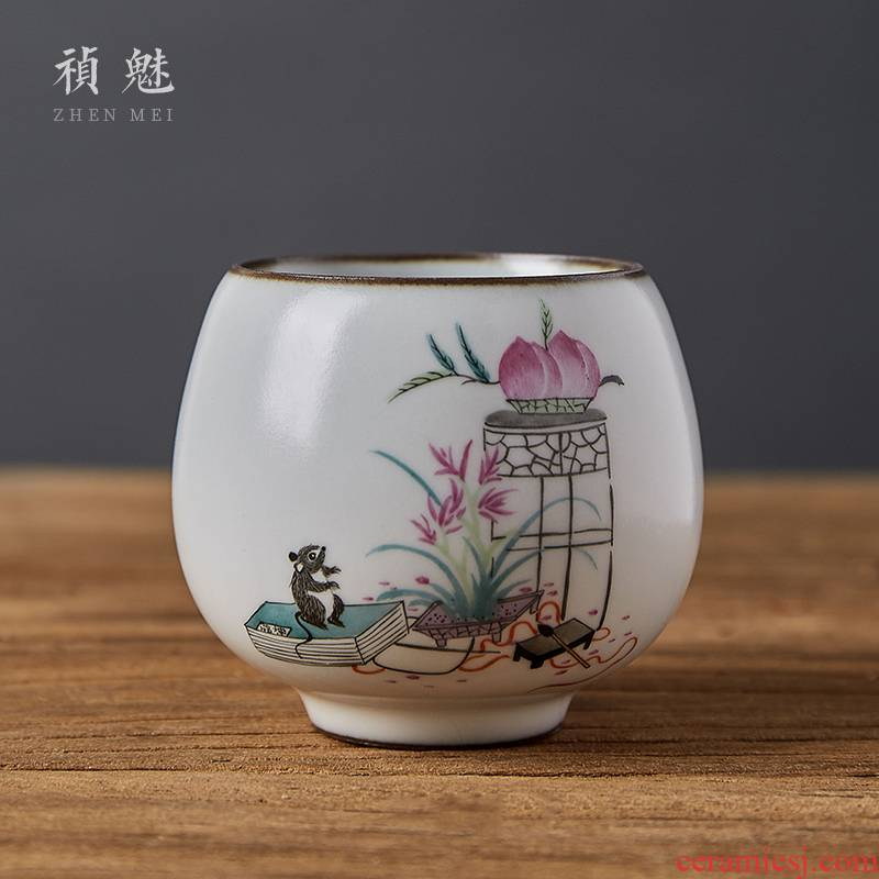 Jingdezhen checking ceramic kung fu tea cups all your up slicing can raise the personal single cup tea cups master CPU