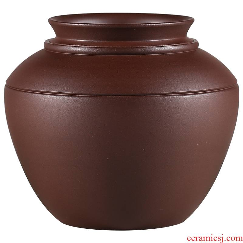 Shadow at yixing purple sand pot of pu 'er tea to wake receives undressed ore old purple violet arenaceous mud POTS in the household, bamboo dock JH