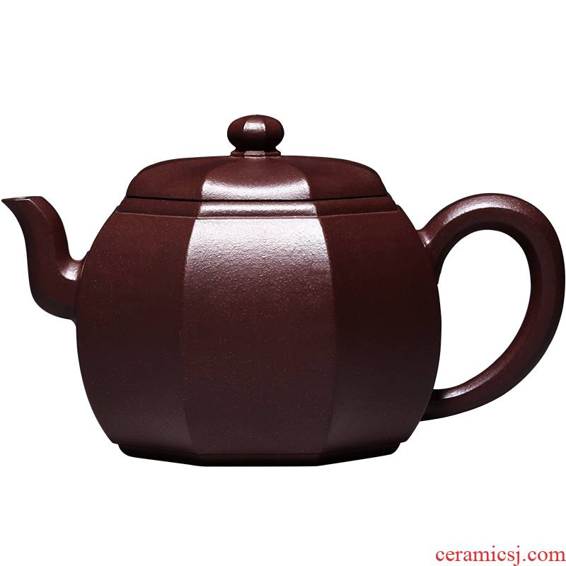 Shadow at yixing masters are it all hand - made undressed ore pleasantly purple clay teapot tea set HNYY