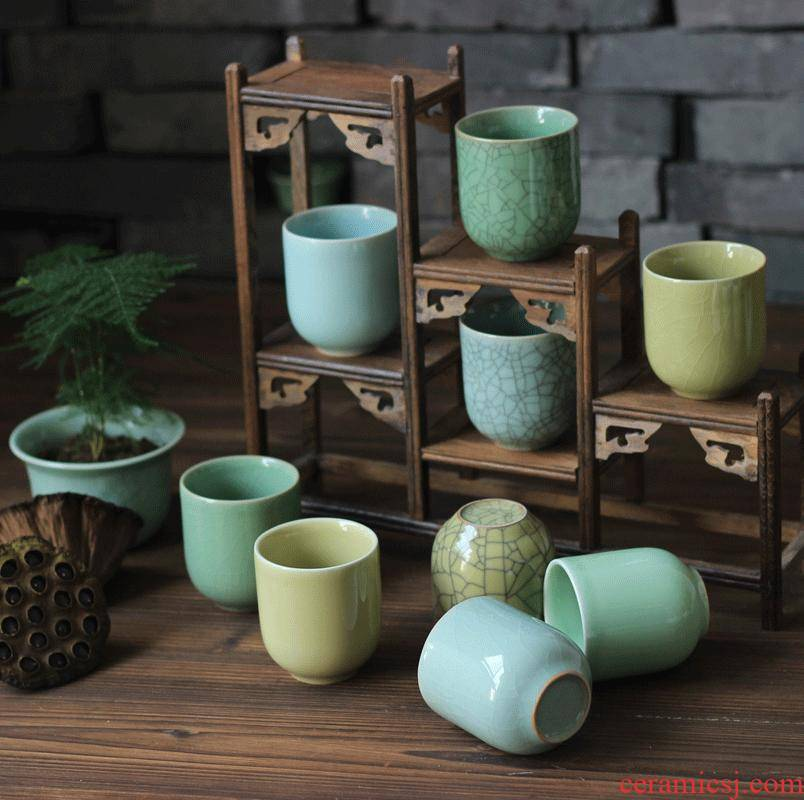 Longquan celadon jia the qing fang boutique nine color cup 6 color cup upgrade to welcome mugs authentic tea cups