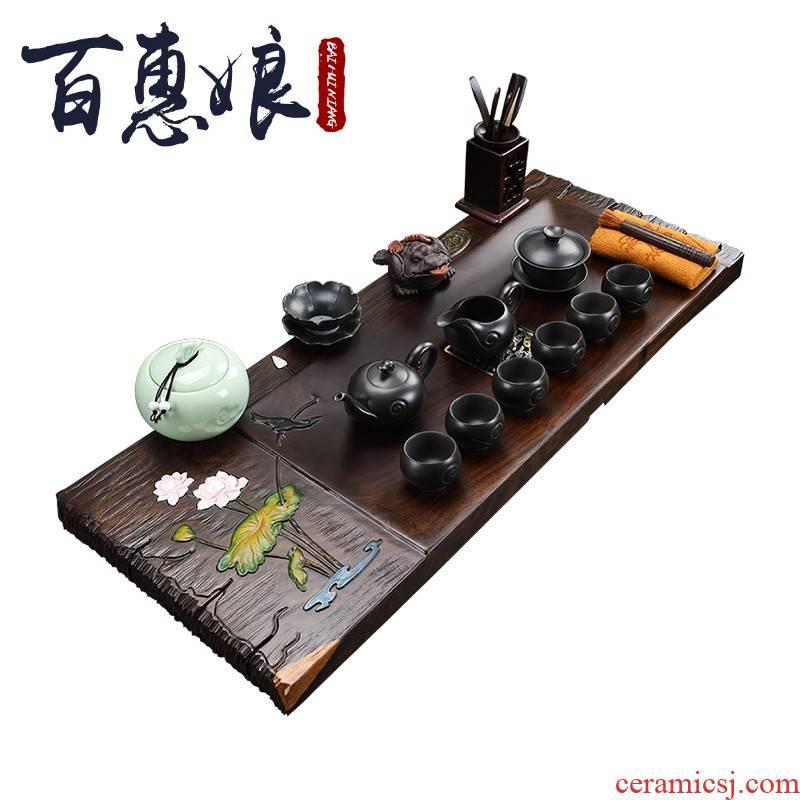(niang automatic lazy tea sets suit Japanese semi - automatic tea tea set ceramic GaiWanCha plate