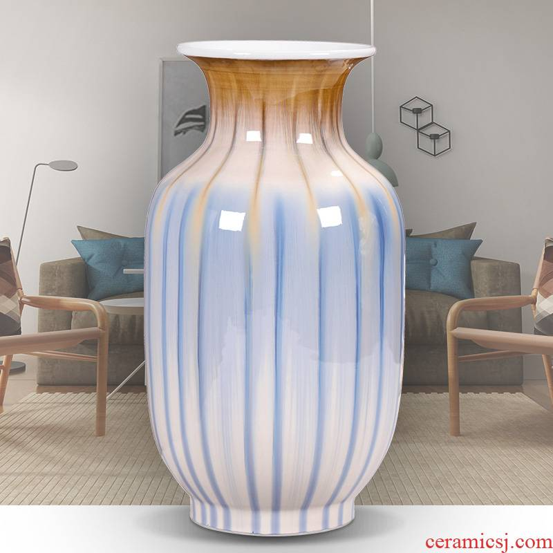 Jingdezhen ceramic vases, furnishing articles porch sitting room of I and contracted wine decorations lucky bamboo vases, flower arrangement