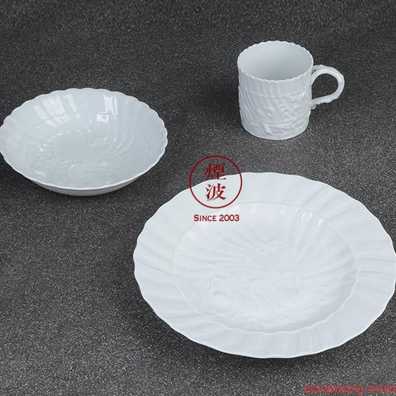 German MEISSEN mason mason meisen porcelain white swan series continental breakfast set of suit