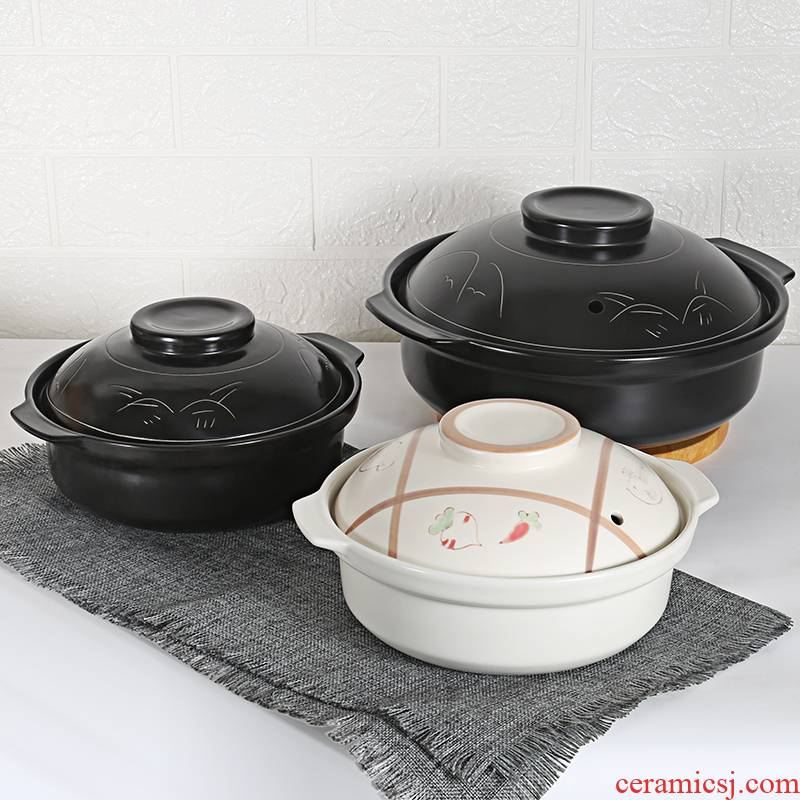 Sand in clay pot soup rice to hold to high temperature ceramic pot chicken soup pot conger small casserole pot stew household gas flame an earthenware pot
