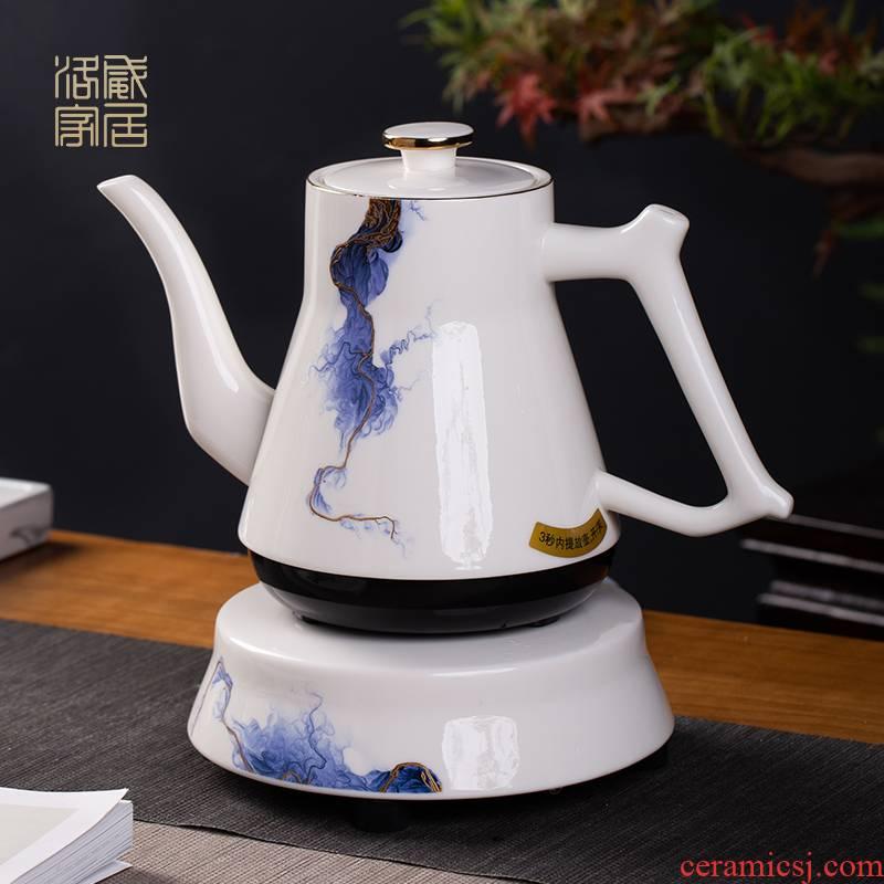 Blower, jingdezhen ceramic teapot household health pot insulation teapot tea kettle electrothermal cooking pot