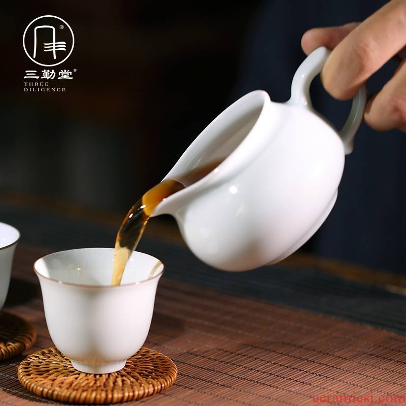 Three frequently hall jingdezhen ceramic fair keller kung fu tea set shadow filtering portion celadon cm cup tea S31004