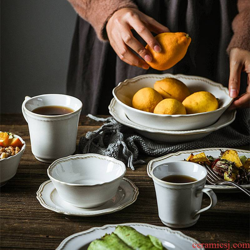 Nile dish dish dish home meal plate creative Nordic steak plate western - style food dish breakfast dish soup plate ceramic plate