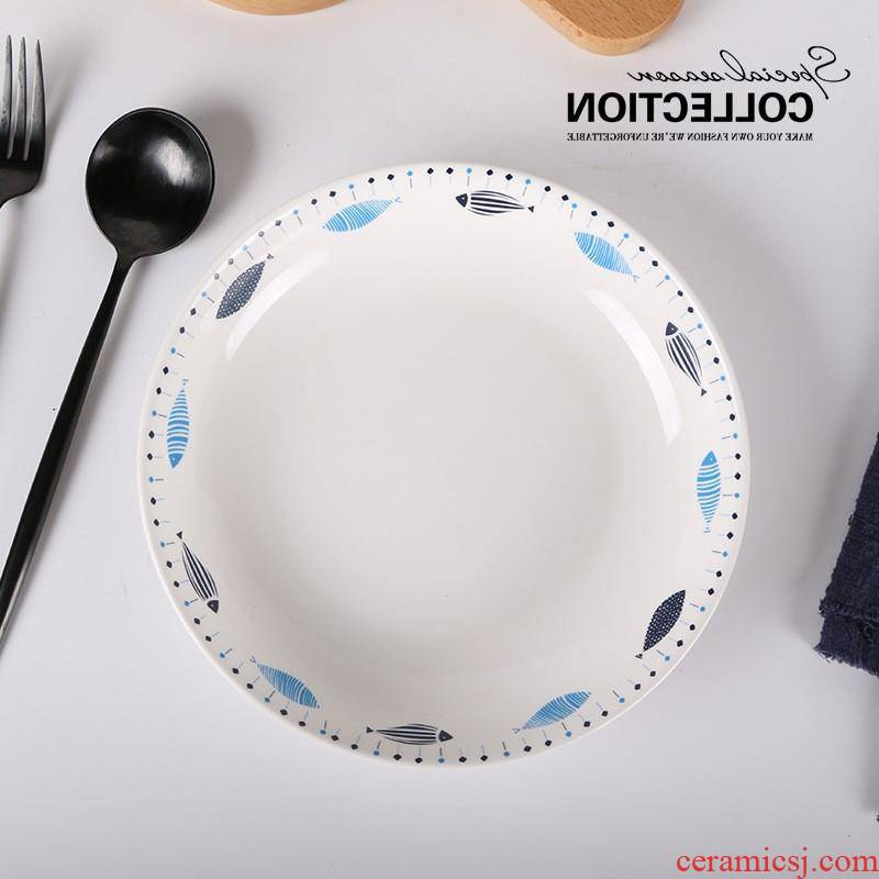 The restaurant kitchen ceramic plate plate plate household bowls plates combined daily tableware custom manufacturers