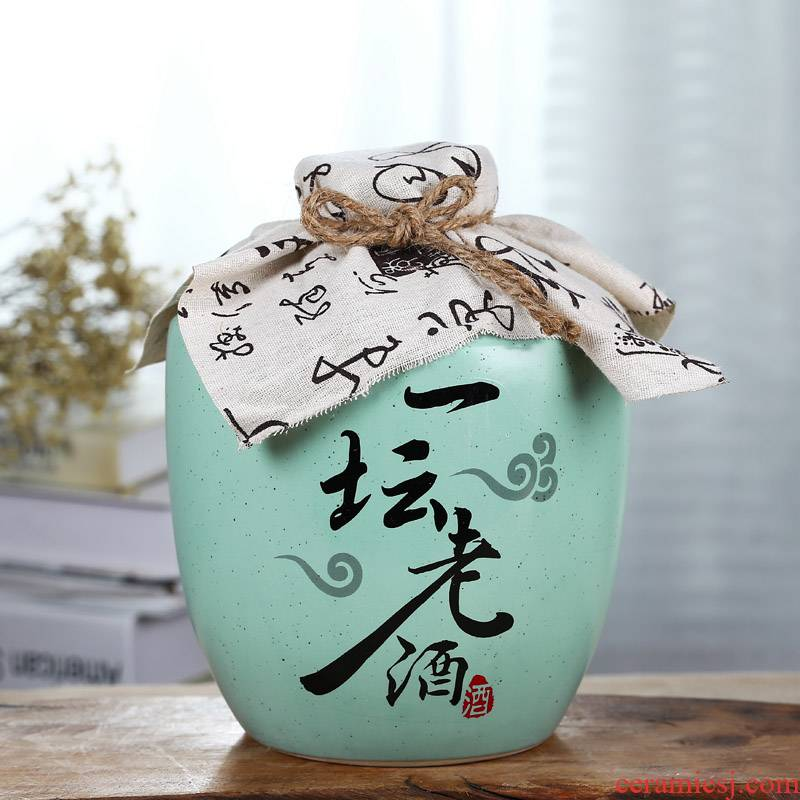 Many optional jingdezhen ceramic bottle wine jar empty bottle seal wine jugs home hip flask 3 kg