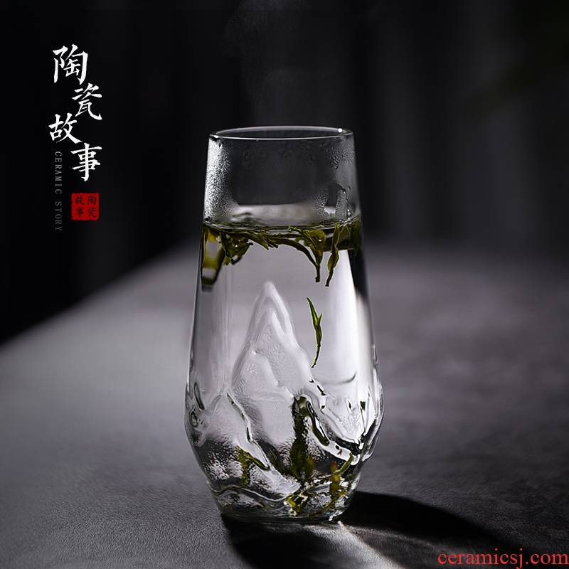 Story of pottery and porcelain cups of green tea glass cup hot tea cup personal cup large capacity home office cup men and women