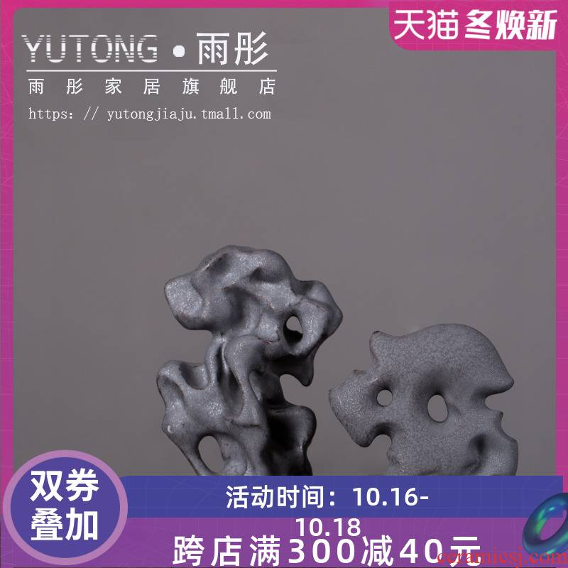 Jingdezhen ceramic furnishing articles rockery creative dry mountain landscape of new Chinese style living room decoration zen tea room porch desk