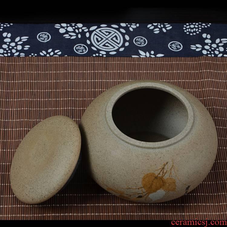 Ya xin company hall ceramic tea pot large half jins to coarse pottery tea pot seal up tea moistureproof