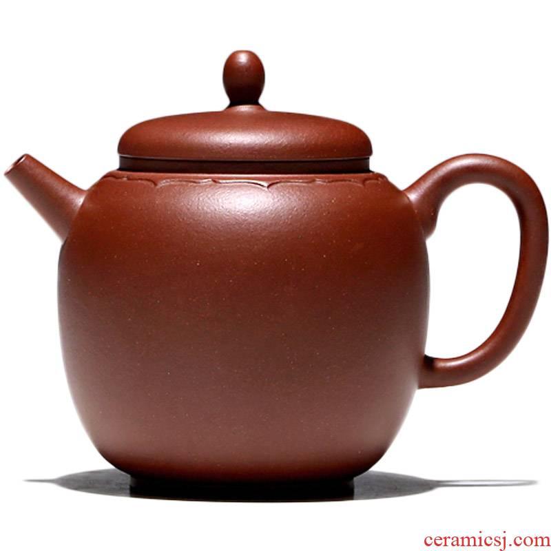 Yixing masters shadow enjoy 】 【 TaoJianChun manual it the teapot undressed ore red - skinned Long Lian core 260 CCCT