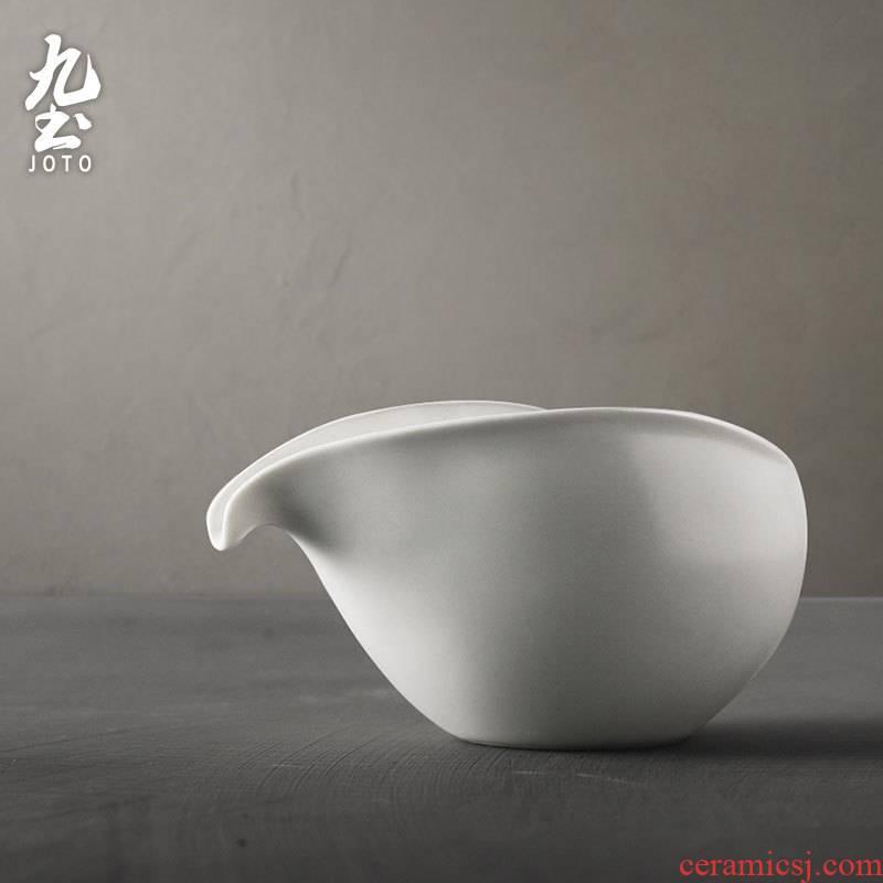 About Nine soil fair ceramic cup white porcelain kung fu tea accessories Japanese large tea tea tea points sea and glass