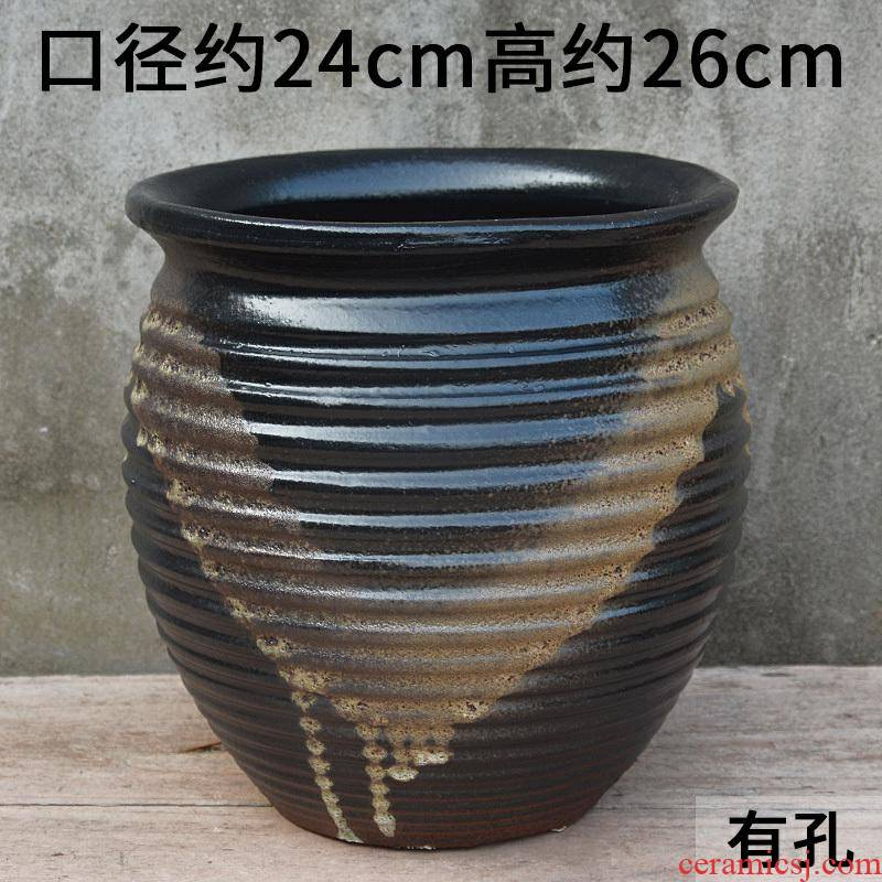 Extra large fleshy old running the flowerpot vase clearance of large diameter mage pockets clay pottery flowerpot flower pot