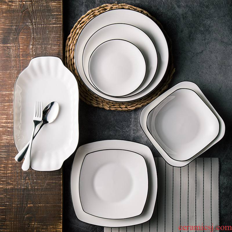 The kitchen creative dishes beefsteak Nordic web celebrity ceramic tableware ins 0 breakfast The Japanese household wind