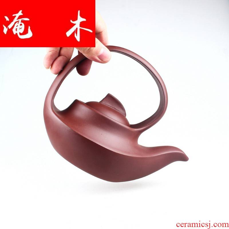 Submerged wood yixing manual it undressed ore purple clay pot of high - capacity teapot tea gifts