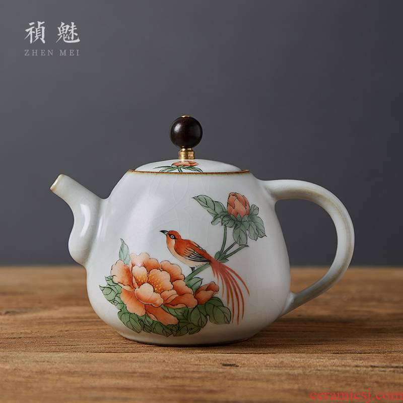 Shot incarnate all hand to open the slice your up with jingdezhen ceramic teapot kung fu tea set household filter teapot single pot