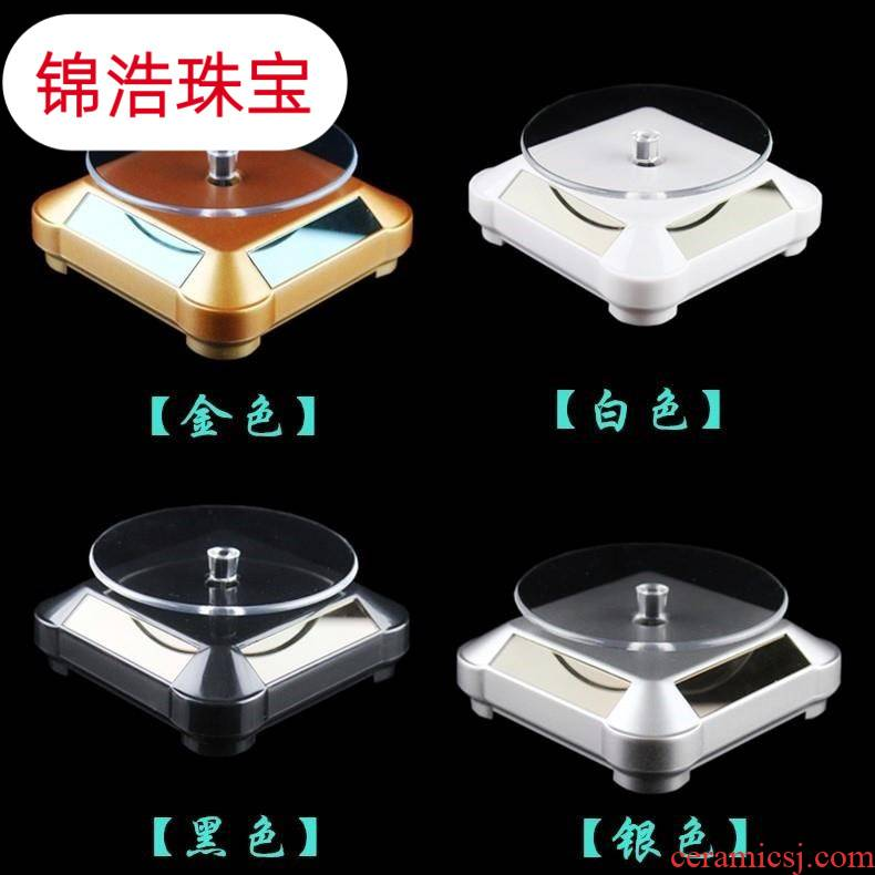 Rotary tray rotating the shop light exhibition stand base small jewelry store product model hand the turntable