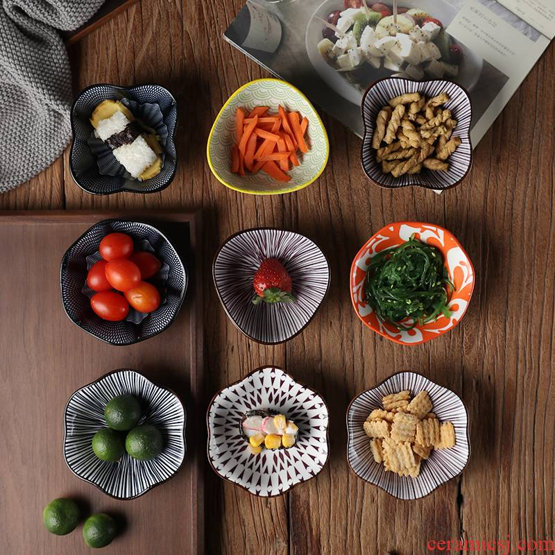 Flavor dish of Japanese soy sauce dish chafing dish seasoning dip in vinegar sauce pickle ceramic bowl dish plate use ltd. ideas