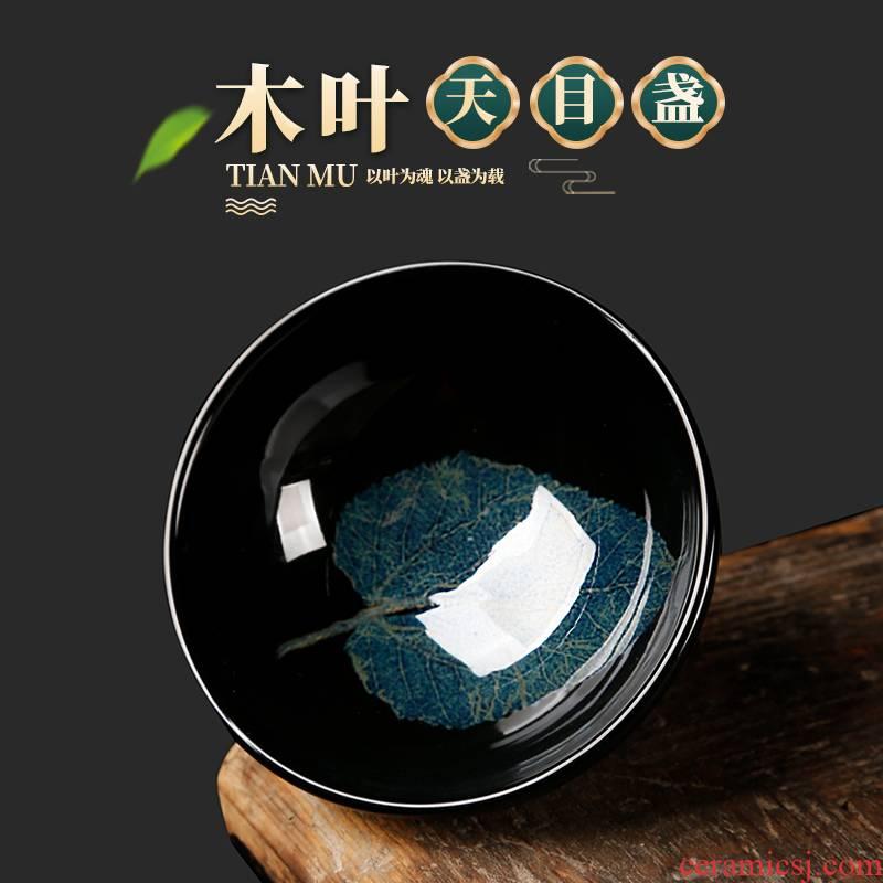 The ancient jizhou up sheng up konoha temmoku lamp that jingdezhen sharply glaze konoha masters cup built one bowl of tea cups